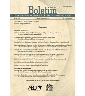 Boletim da Sociedade Brasileira de Direito Internacional nº 119-124 vol.1 - agosto/dezembro 2013